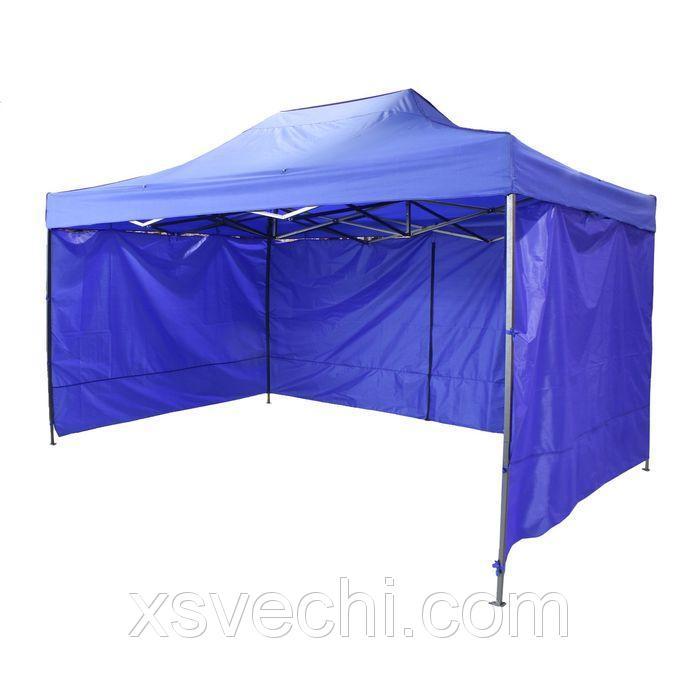 Палатка торговая 300*200 см, каркас складной черный, с молнией, цвет МИКС (синий,красный)