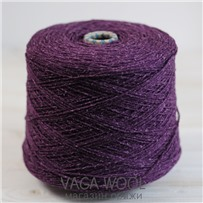 Пряжа City 028 Пурпур 191м/50гр., шерсть ягнёнка, шёлк, Vaga Wool
