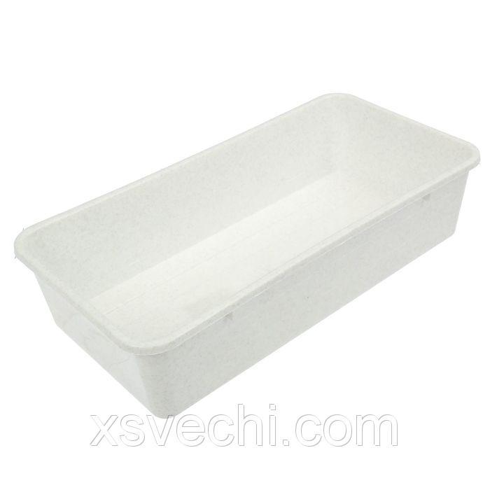 Ящик для рассады, 40 х 20.5 х 9.5 см, мраморный