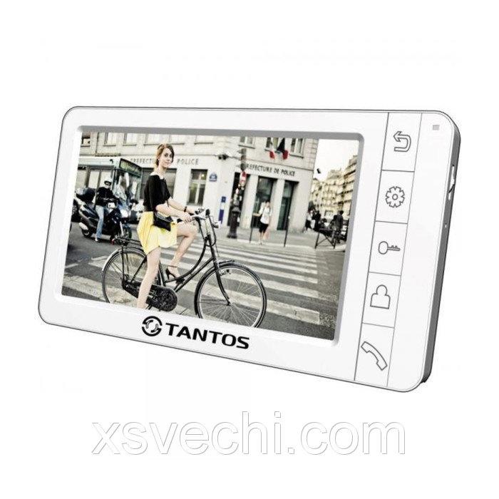 """Монитор видеодомофона Tantos Amelie SD (White), 7"""", hands free, порт SD, подключение видеокамер   29"""