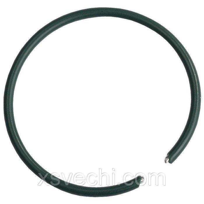 """Кольца для подвязки растений, набор 200 шт., металл с ПВХ покрытием, зелёные, """"Grinda"""""""
