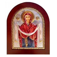"""Икона """"Покров Пресвятой Богородицы"""" на дереве"""