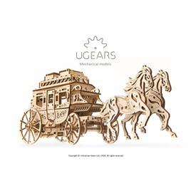 UGears 3D-пазл механический Ugears - Почтовый дилижанс