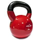 Гиря виниловая DB-401, красная, 16 кг