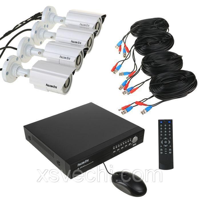 Комплект видеонаблюдения Falcon Eye FE-0108AHD-KIT PRO 8.4.1, CVBS, 4 уличных