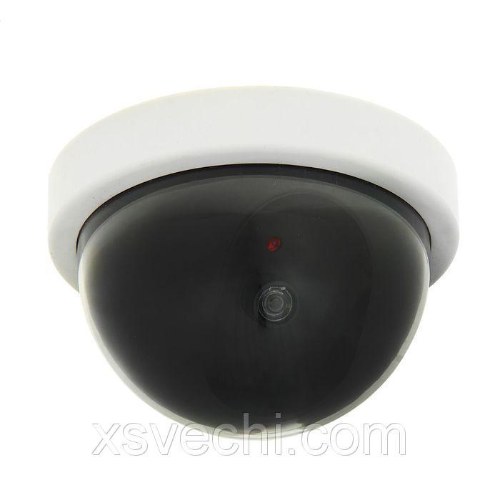 Муляж купольной видеокамеры К-104MU, белый, 2АА (не в компл.),