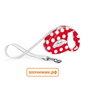 "Рулетка Flexi ""Fashion Small Dots"" ремень 3м до 12кг"