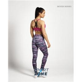 Спортивные лосины Better bodies Printed tights черные с розовым