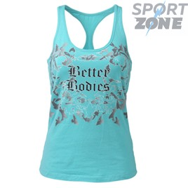 Женская майка Better bodies Printed T- back, голубая