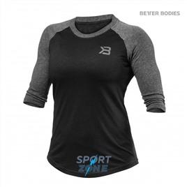 Футболка с длинным рукавом Better Bodies Womens Baseball Tee, Black