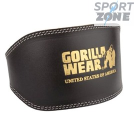 Атлетический пояс FULL LEATHER PADDED BELT BLACK от GORILLA WEAR