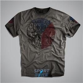 Мужская футболка US PATRIOT T-SHIRT II GREY UNCLE SAM