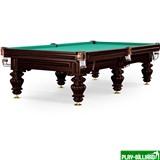 Бильярдный стол для русского бильярда «Turin» 9 ф (черный орех, 6 ног, плита 38мм), интернет-магазин товаров для бильярда Play-billiard.ru