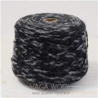 Пряжа Gepard Черно-серый  150м/50гр Lama Lima