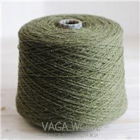 Пряжа City, 027 Хаки, 144м/50г, шерсть ягнёнка, шёлк, Vaga Wool