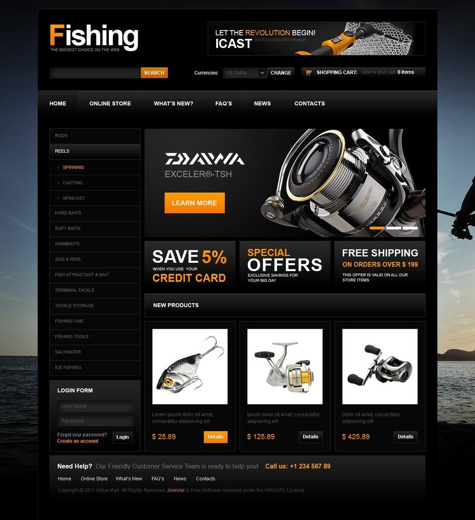 шаблоны сайта рыбалка