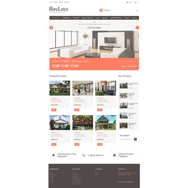 Responsive Real Estate Store