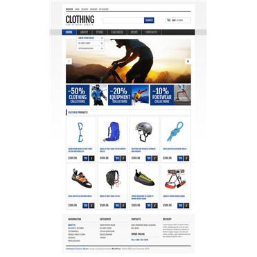 Responsive Sport Clothing Store