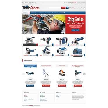Responsive Tools Store