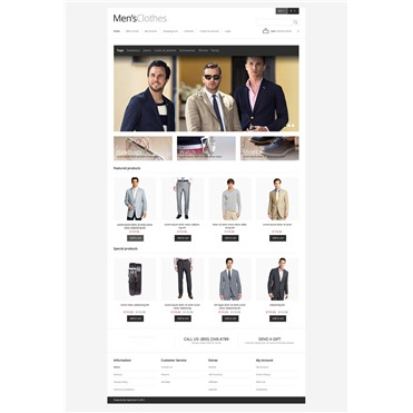 Responsive Men's Clothing Store