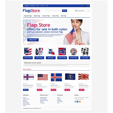 Responsive Flags Store