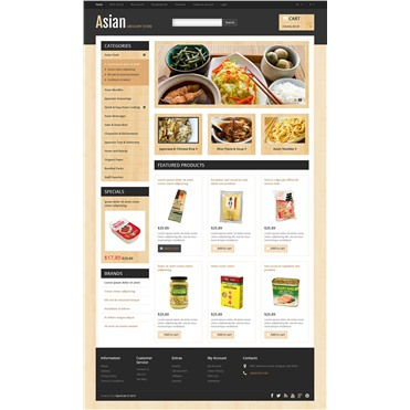 Responsive Asian Grocery Store