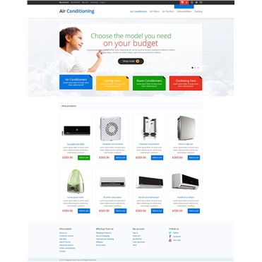 Responsive Air-Conditioner Store