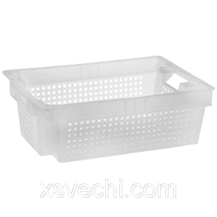 Ящик п/э 32 л, морозостойкий 60х40х20 см, цвет белый