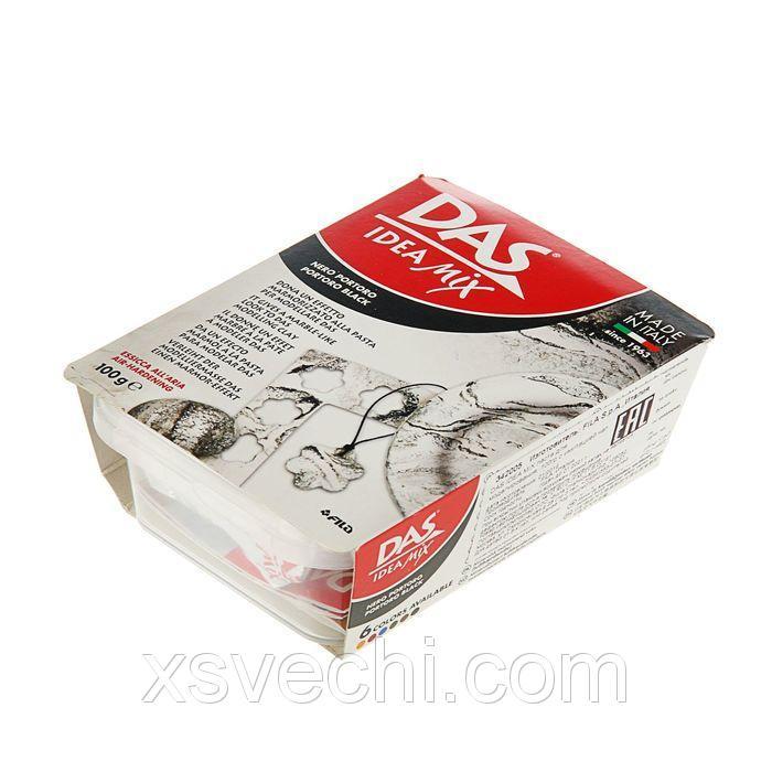 Паста для лепки и моделирования самозатвердевающая DAS IDEA Mix 100 г имитация натурального камня portoro black 342005
