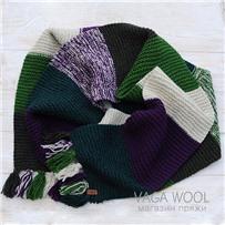 Набор для шарфа Vana Tallinn зелено-фиолетовый из пряжи Pastorale