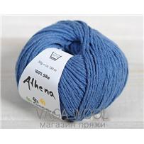 Пряжа Gepard Garn Athena шёлк 742 серо-голубой джинс
