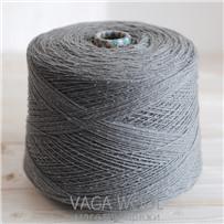 Пряжа City 031 Серебро 144м/50гр., шерсть ягнёнка, шёлк, Vaga Wool