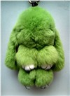 """Брелок """"Меховой Кролик"""" 19 см (натуральный мех) зеленый"""