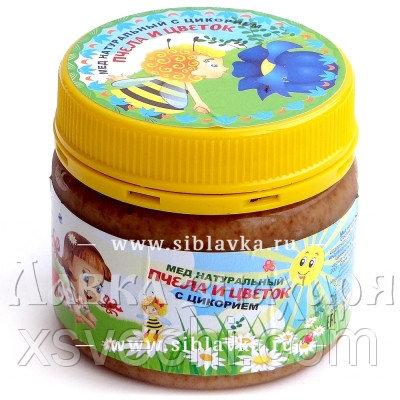 Мед «Пчела и цветок» с цикорием