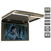 """Автомобильный потолочный монитор 17,3"""" со встроенным FULL HD медиаплеером AVIS Electronics AVS1750MPP (Серый, бежевый)"""