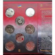УКРАИНА НАБОР 5 ГРИВЕН 2013-2015гг 70 ЛЕТ ПОБЕДЫ