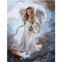 "Картина для рисования по номерам ""Ангел и ландыши"" арт. GX 3231 m"