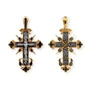 """Крест """"Распятие Христово № 08072"""", серебро 925° с позолотой"""
