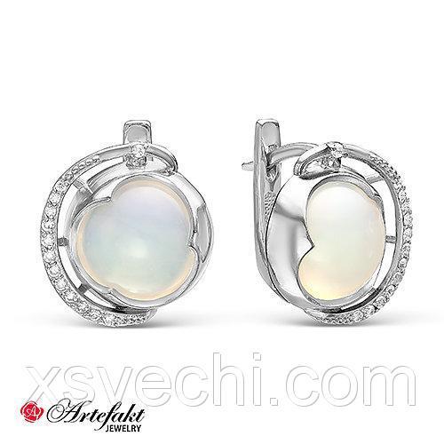 Серебряные серьги с муранским стеклом 295