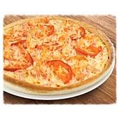 Большая пицца с курочкой и томатами