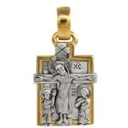 812 Крест с Предстоящими, серебро 925° с позолотой