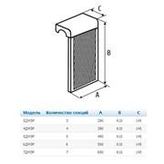4 ДМЭР, Декоративный металлический экран на радиатор 4-х секционный, 390 х 610 х 150 мм