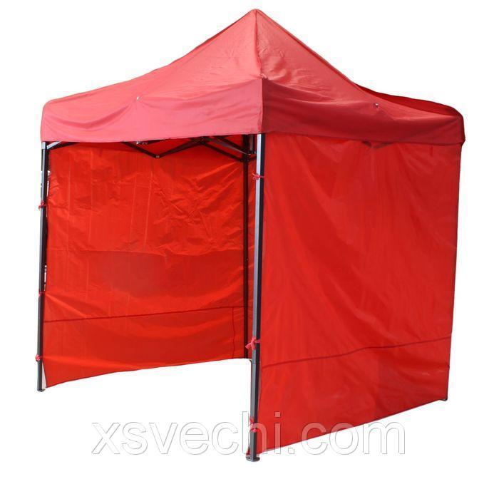 Палатка торговая 250*250 см, каркас складной черный, с молнией, цвет МИКС (синий,красный)