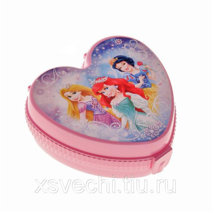 """Шкатулка детская """"Принцессы"""", цвет розовый"""