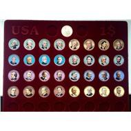 Президенты США, цветные 32шт в планшете