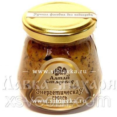 Медовая композиция «Энергетическая смесь» с курагой, черносливом и грецкими орехами