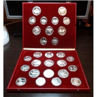 КОЛЛЕКЦИЯ ОЛИМПИАДА 80 Proof серебро Идеальное состояние