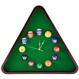 """Часы настенные """"Треугольник"""" 57 см х 52 см, деревянные, интернет-магазин товаров для бильярда Play-billiard.ru"""