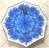 Зонт-наоборот антизонт с кнопкой Синяя астра