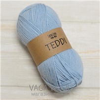 Пряжа Teddi, Голубой 18726, 110м в 50г, альпака, Перу